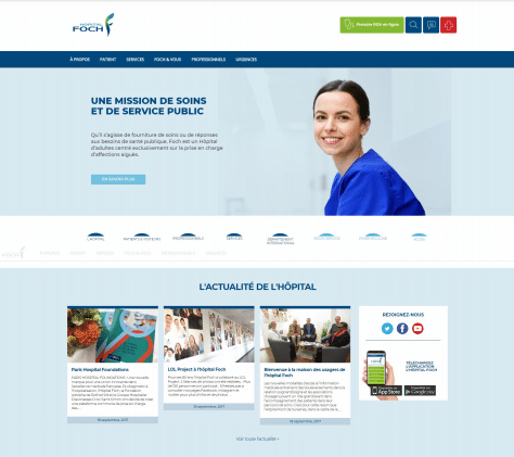 Nouvelle page d'accueil Hôpital Foch